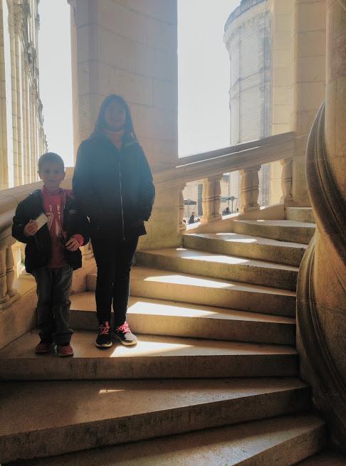 escaleras - doble hélice - niños