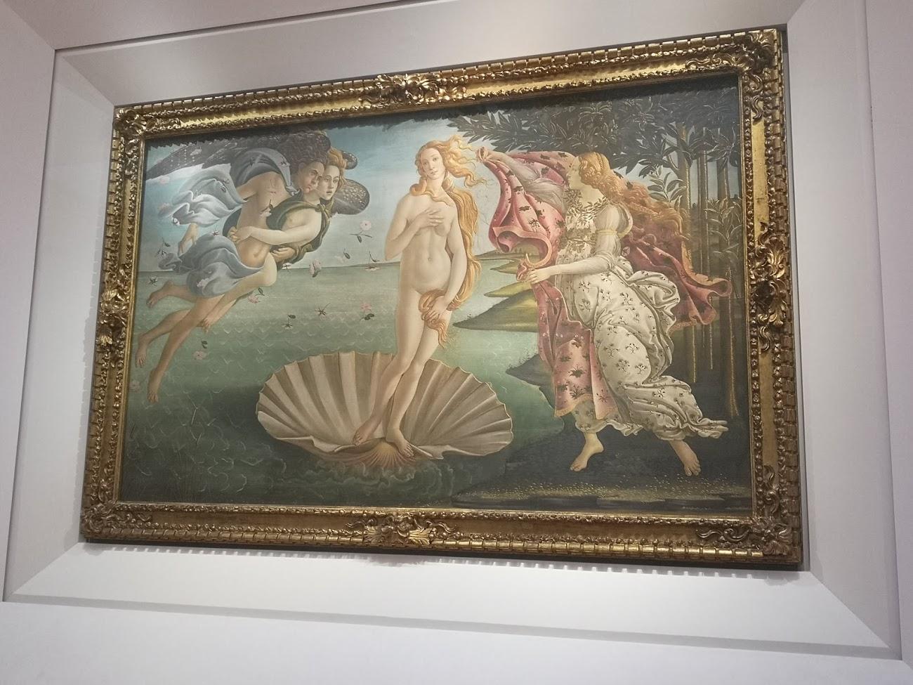 El nacimiento de venus - botticeli - cuadro - florencia