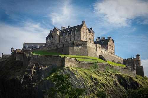 castillo - edimburgo - escocia - roca