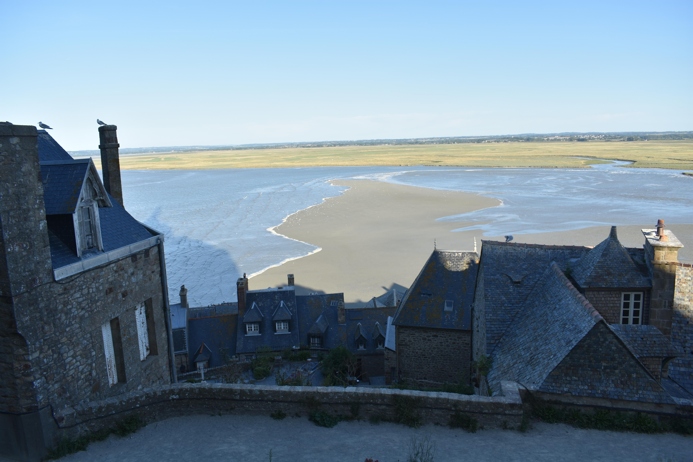 playa - casas - tejados - mont saint michelle