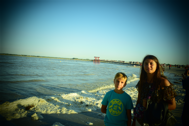 mont saint michel - niños - playa - arena