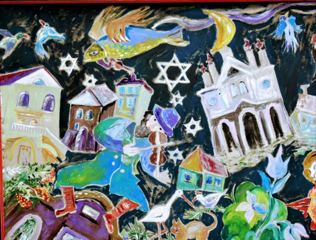 monumento - mural - piedra - cracovia - pintura